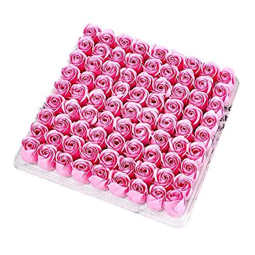Sodial 81 pz rose corpo corpo fiore floreale sapone profumato fiore di rosa olio essenziale floreale ospite sapone festa di nozze san- regalo rosa