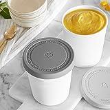 2er-Set Eisbehälter 1L | Aufbewahrungsbehälter für Speiseeis | Gefrierdosen | Eis-Container BPA-frei in Lebensmittelqualität | Eis-Zylinder Test