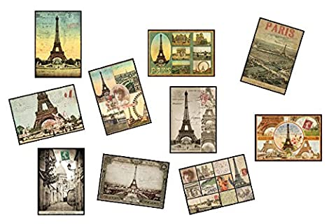 Lot 10 cartes postales Paris vintage