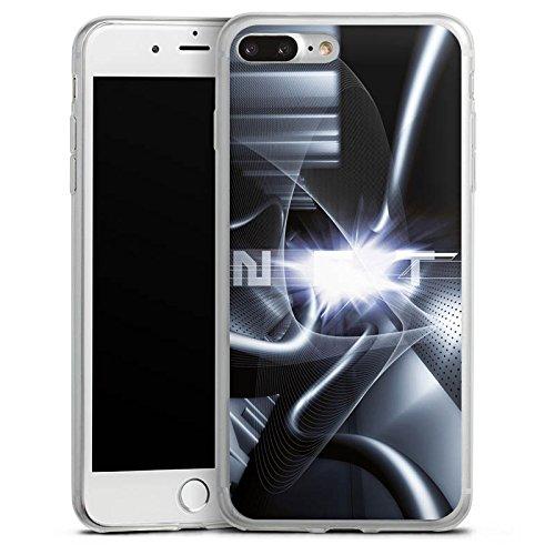Apple iPhone 8 Slim Case Silikon Hülle Schutzhülle Techno Tunnel Chrom Silikon Slim Case transparent
