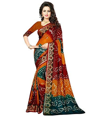 Jhalak Fashion Women's Cotton Silk Saree With Blouse Piece (Js122_Mustard)