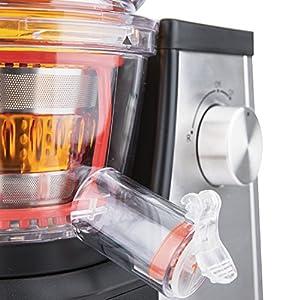 H.Koenig GSX22 Estrattore di succo, 3 Filtri per succo, Tubo Extra Large, 60 giri/min, Spremitura Lenta, Acciaio Inox, BPA Free 1L, 400W - 2021 -