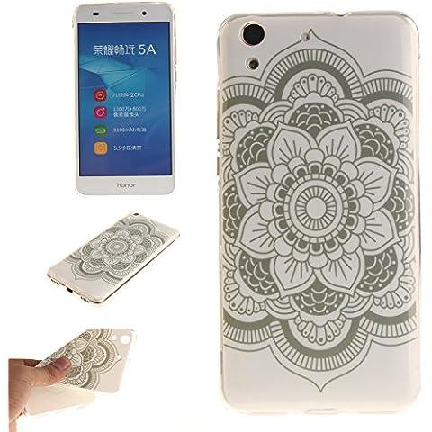 Ecoway copertura / coperture / insiemi di telefono / shell protettivi apparecchi telefonici mobili chiari e trasparenti Custodia TPU silicone Crystal per Huawei Y6 II / Huawei Y6 2 / Honor 5A , case cover protettivo disegno speciale - TX-11