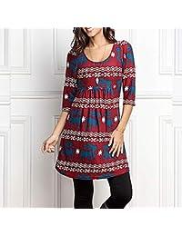 Amazon.es: Vestidos Para Navidad - Blusas y camisas / Camisetas, tops y blusas: Ropa