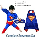 Fancy Dress Superman (Age: 4 To 6 Yrs) Super Heros Costume B'day Gift | Birthday Gift For Kids | Fancy Dress Competition | Baby Show | Muscle Costume | Annual Function