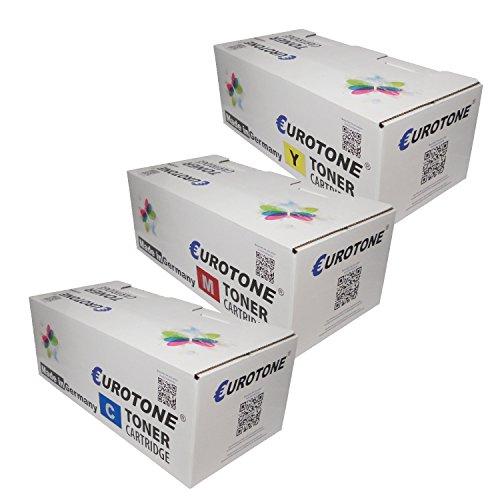 3x Eurotone Toner für Ricoh MP C2550spf C2551AD C2051 C2050 C2051AD C2550csp ersetzt 842062 - 842064 TYPE-MPC2551 TYPEMPC2551 Color (Ricoh C2050 Toner)
