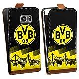 DeinDesign Tasche Hülle Flip Case kompatibel mit Samsung Galaxy S7 Edge BVB Logo Borussia Dortmund