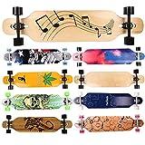 FunTomia Longboard Skateboard Drop Through Cruiser Komplettboard mit Mach1 High Speed Kugellager T-Tool
