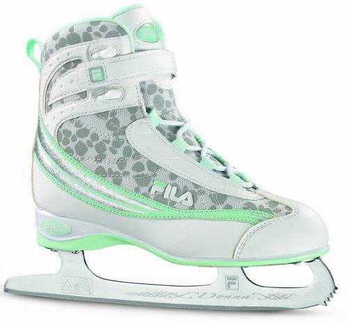 Fila Damen Schlittschuh Donna, white/water green, 40.5, 10411005