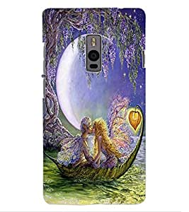 ColourCraft Loving Couple Design Back Case Cover for OnePlus Two