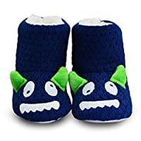 LULEX Child Animals Bootie Slippers Winter Soft Knit Monster Bootie Slippers