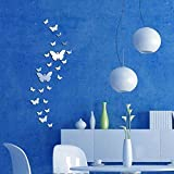 30 Stück Spiegelfliesen Selbstklebend Wandtattoo Wandsticker Spiegel Fliesen Schmetterling