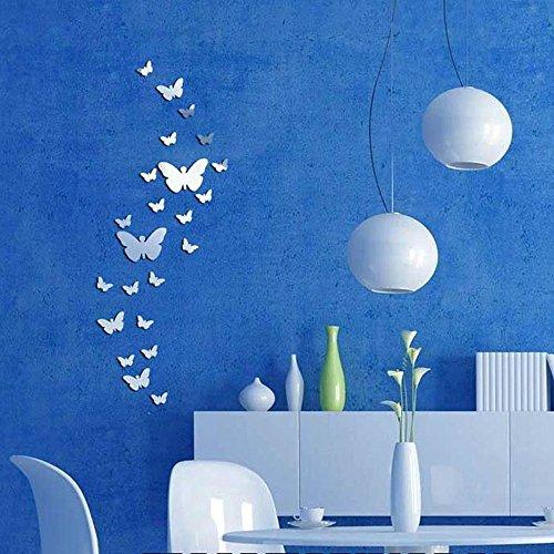 30 Stück Spiegelfliesen Selbstklebend Wandtattoo Wandsticker Spiegel Fliesen Schmetterling Wandtattoos Vögel Und Schmetterlinge