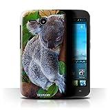 Stuff4 Hülle / Hülle für Huawei Ascend Y600 / Koala Muster / Wilde Tiere Kollektion