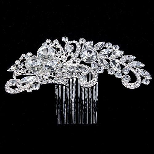 eit Brautschmuck Strass Haarkamm Kristall Haarschmuck funkelnd und funkelnd feinste Kristall Strass Haarkamm Hochzeit Ornamente Brautschmuck Kopfstück ()