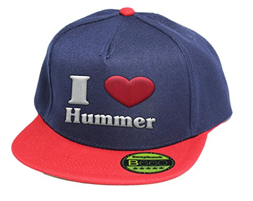 i-love-hummer-snapback-cap-5-panel-bluered