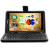 Ikall N4 Tablet with Keyboard (7 inch, 16GB, WiFi + 4G LTE + Voice Calling), Black