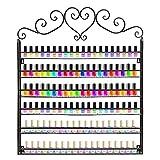 Vernis à ongles Rack, 6étages étagère en métal support mural pour écran Organiseur de vernis à ongles Tenue 180bouteilles de vernis à ongles