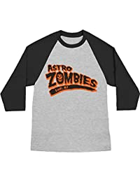 The Misfits - Mens Astro Zombies Baseball T-shirt Heather