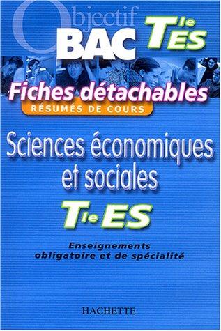 Fiches détachables : Sciences économiques et sociales, terminale ES par Olivier Thierry