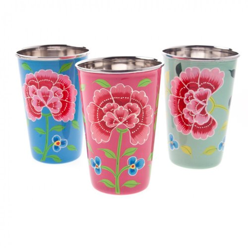 nkuku-blue-franjipani-floral-hand-painted-tin-cup-colour-blue-seconds