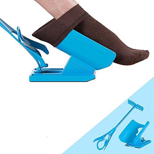 Sockenhilfe - Holeider Anziehhilfe für Kompressionsstrümpfe - Socken Anziehhilfe für Senioren - Sockenhilfe Anziehhilfe Strümpfe Anziehhilfe für Socken Strumpfanziehhilfe Senioren Strumpfanzieher Stützstrümpfe Anziehhilfe Sockenanziehhilfe
