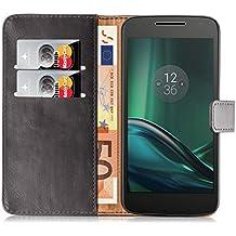 Cover Lumia 930, JAMMYLIZARD [Retro Wallet] Custodia a Libro Portafogli in Pelle per Nokia Lumia 930, GRIGIO
