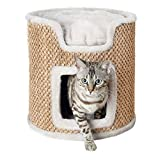 Trixie 44706 Cat Tower Ria, 37 cm, lichtgrau/natur