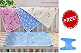 #8: Water Proof Bed Protector for baby Dry Sheet Small (70 cm*50 cm) (Pack of 4 )