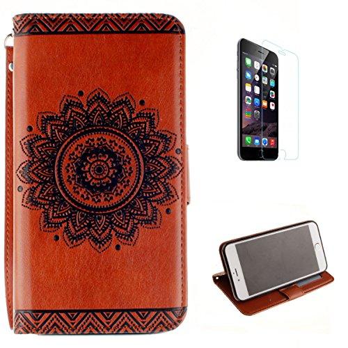 iphone-7-plus-wallet-fundacon-gratis-hd-pantalla-protectorkasehome-elegante-en-relieve-girasol-y-man