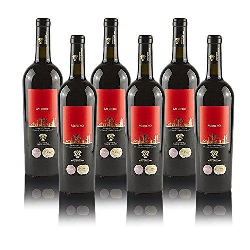 Vino Rosso'Meridio' Primitivo & Syrah IGP Puglia 2015 Masseria Barone Melodia - Box 6 bottiglie da 750 ml