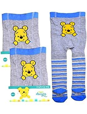 2er Pack Disney Baby Strumpfhosen mit Winnie Pooh Applikation 62 68 74 80 86 92 Säuglinge Kleinkinder