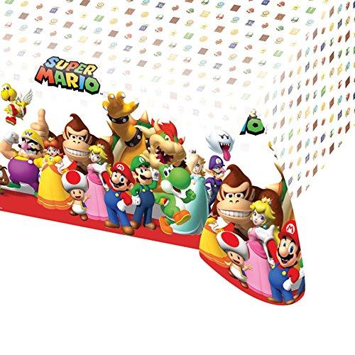 Amscan 9901539–Tischdecke–Kunststoff Nintendo Super Mario, 120x 180cm