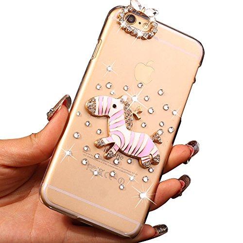 """Sunnycase® Coque Etui Luxe iPhone 6/6S (4.7"""") Ultra Mince Paillette Scintillantes Housse Retour Hard Case PC Plasticque Bumper Skin Shell Bling Brilliant Effect Apple 6/6S 4.7 pouces 16/64/128 Go (Wif Pattern 10"""