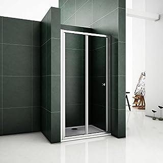 Duschtür Nischentür Duschabtrennung 90X185cm Falttür faltwand Verchromt