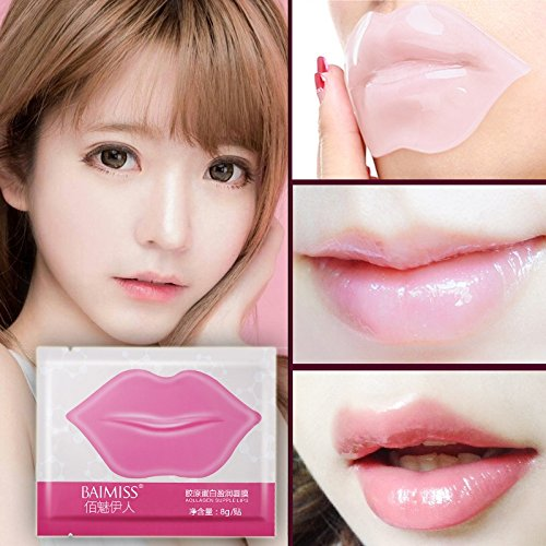 SBE BAIMISS 5Pcs Collagen Lip Mask Lip Film Moisturizing Exfoliating Lips Care Beauty Essentials Lip Mask