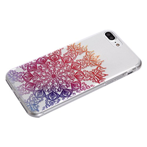 iPhone SE Hülle, Asnlove Klar Muster TPU Transparent Ultradünn Weich Silikon Schutzhülle Thin Fit Passgenaues Premium-Case Schutzhülle für iPhone 5S Case, Apple iPhone 5 Cover Farbe - 04