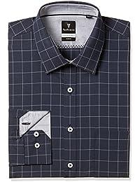 Van Heusen Men's Checkered Slim Fit Cotton Formal Shirt