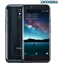 Móviles y Smartphones Libres, DOOGEE BL5000 Moviles Libres Baratos - 5.5 Pulgadas FHD Pantalla - MT6750T Mali-T860 - 4GB RAM + 64GB ROM - 8.0 MP + 13.0MP - Android 7.0 - Dual SIM - Batería de 5050mAh (Negro)