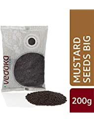 Amazon Brand - Vedaka Mustard Seeds (Rai) Big, 200g