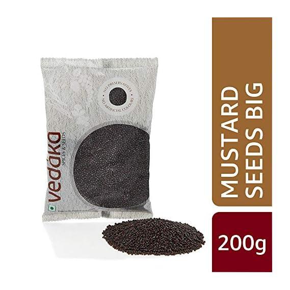 Amazon Brand - Vedaka Mustard Seeds (Rai) Big, 200g