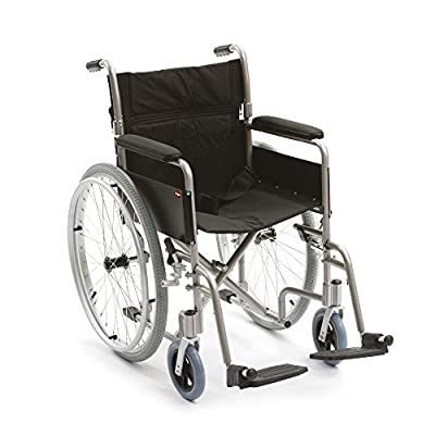 "Drive DeVilbiss Healthcare Enigma Aluminium Self-Propelled Folding Wheelchair with 18"" Seat Width"