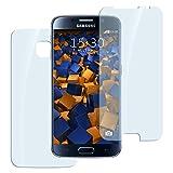 2x mumbi Panzerfolie für Samsung Galaxy S6/S6 Duos Glasfolie Hartglas 9H (1 x VORNE und 1 x RÜCK Folie) (bewusst kleiner als das Display)