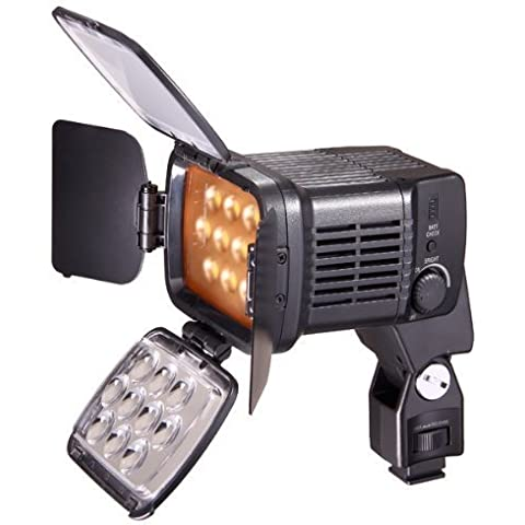 CameraPlus - Qualità superiore Profeesional - Illuminatore Luce LED 10 LED video light + F750 Batteria - Faretto LED per fotocamere reflex digitali e videocamere Canon - Nikon - Olympus - Sony - Panasonic - Pentax