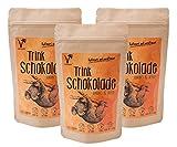 Kräuterladen Trink-Schokolade mit Xylit (Birkenzucker) aus Finnland gesüßt | Ohne Zusätze (3 x 200 g)