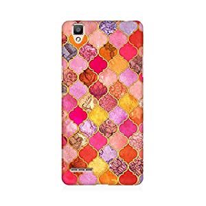RAYITE Colourful Indian Pattern Premium Printed Mobile Back Case Cover For Oppo F1 Plus