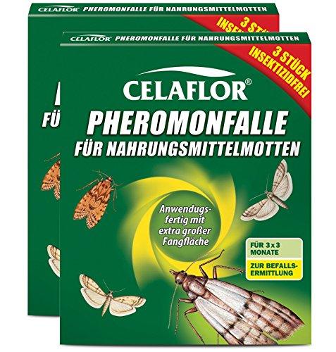 Celaflor 1396 Pheromon-Falle für Nahrungsmittelmotten, 6 Stück