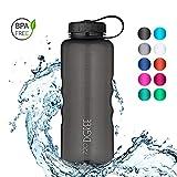 720°DGREE Trinkflasche simplBottle - 1500ml, 1,5L, Schwarz | Wasserflasche aus Tritan, Auslaufsicher & Robust | Flasche mit Weithals für Sport, Gym, Outdoor | Perfekte Sportflasche - BPA Frei