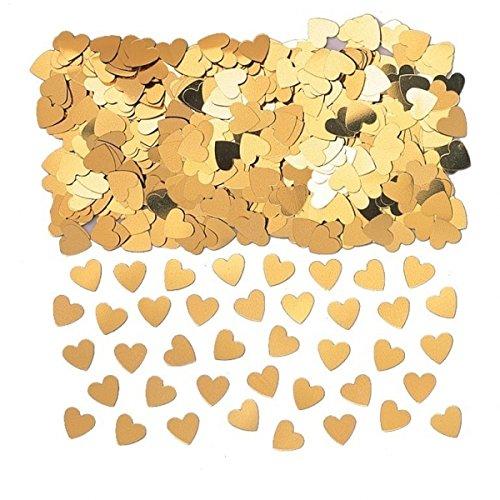 Or Pailleté Table Confetti Confettis en forme de cœurs 14 g Lot de 3
