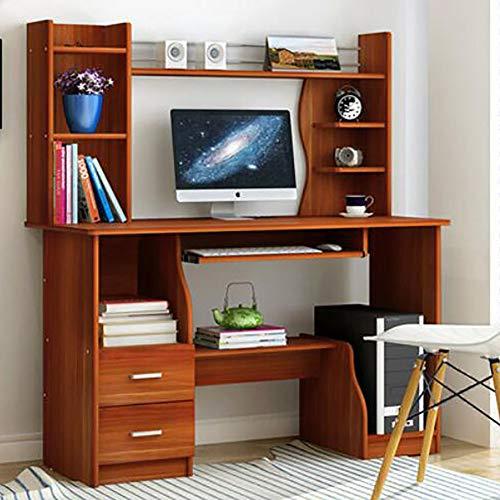 YQ WHJB Computertisch Mit Tastaturunterlage,Computer Schreibtisch Mit Schubladen Hutch Und Bücherregal Kompakt Pc-Laptop Home Office Workstation-i 120 * 40 * 130cm(47 * 15.7 * 51.1inch)